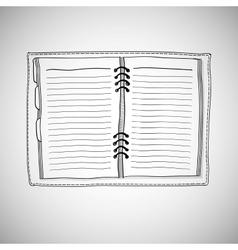 Sketch of notebook vector image vector image