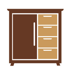 chest of drawers icon isolated vector image vector image