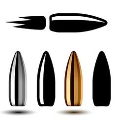 drawing weapon gun bullets vector image