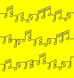 musical notation vector image vector image