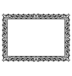 simple ornamental decorative frame vector image vector image