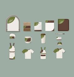 cafe corporate identity elements set vector image