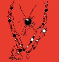collection of necklaces vector image