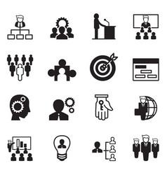 management icon set vector image