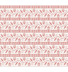 seamless knitted pattern with red flower vector image vector image