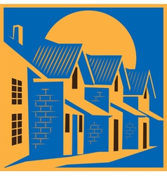 town house colorful vector image vector image