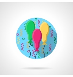 Bright oval balloons round color icon vector image vector image