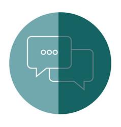 bubble speak conversation message dialog vector image