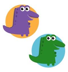 cartoon cute crocodile set vector image