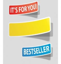 colorede stickers vector image vector image