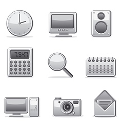 computer applications icon set vector image