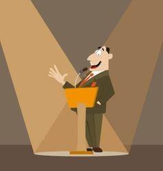 Orator on podium vector image vector image