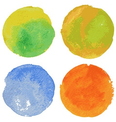 Set of watercolor round backgrounds vector image