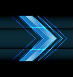 abstract blue light arrow direction on dark vector image