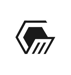 abstract stylish square storage box logo design vector image