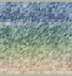 abstraction composed of blue green bricks vector image