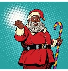 African American black Santa Claus vector
