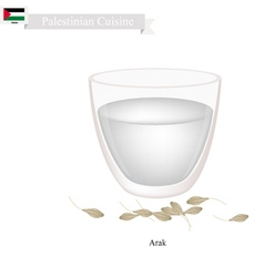 Arak or Palestinian Clear Brandy vector