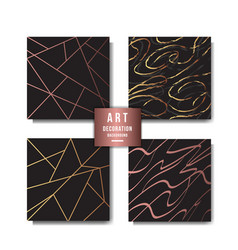 Art deco background collection vector