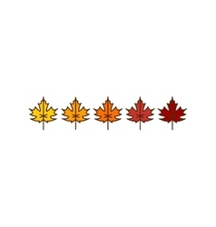 autumn maple leaves icons vector image
