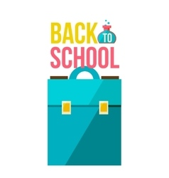 Back to school poster with briefcase vector