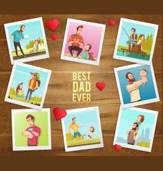 best father ever composition vector image