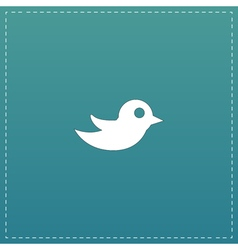 bird flat icon vector image