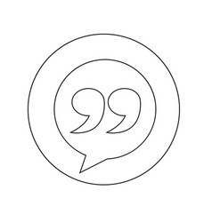 blockquote sign icon vector image