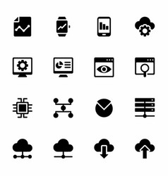 business analytics filled icons vector image