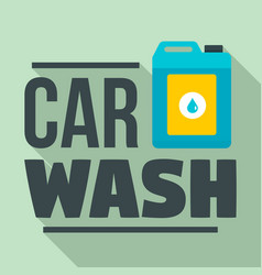 Car wash chemical solution logo flat style vector