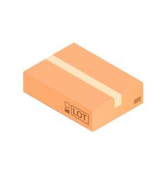 Carton box isometric composition vector