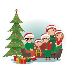 Christmas family portrait vector
