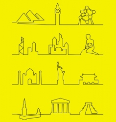 cities world vector image