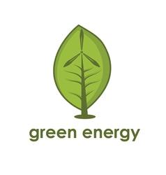 Concept wind alternative energy generator vector