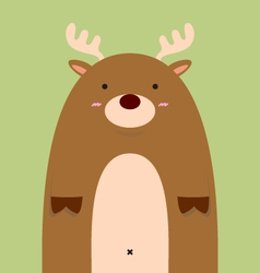 cute fat big deer vector image