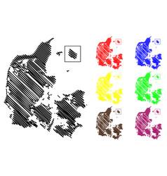 Denmark map vector