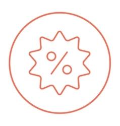 Discount tag line icon vector image