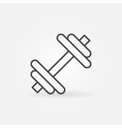 Dumbbell icon or logo vector