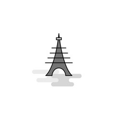 eiffel tower web icon flat line filled gray icon vector image