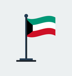 flag of kuwaitflag stand vector image