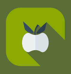Flat modern design with shadow icons apple vector