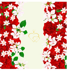 floral border seamless vertical background vector image
