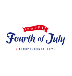 Fourth july independence day vintage banner vector