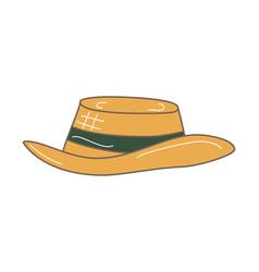 hand drawn sketchy straw hat vector image