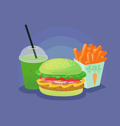 Healthy fast food vector