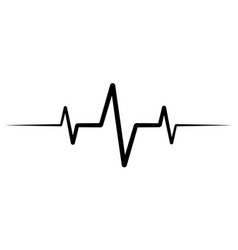 Heart rate pulse icon medicine logo vector
