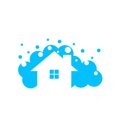 home cleaning logo vector image