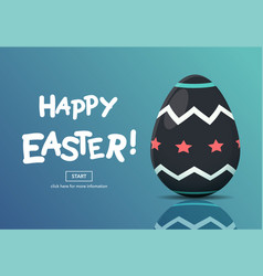 horizontal web banners with easter concept vector image