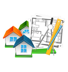 house drawing and design vector image