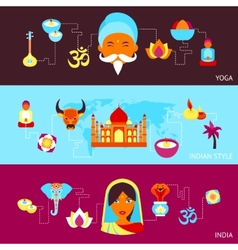 India banner set vector image